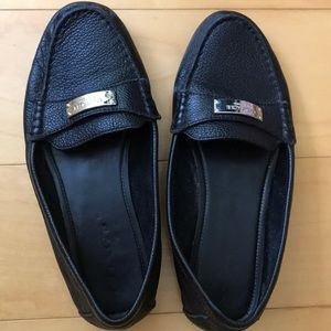 Shoes - Coach black Fredrica leather loafer size 7.5